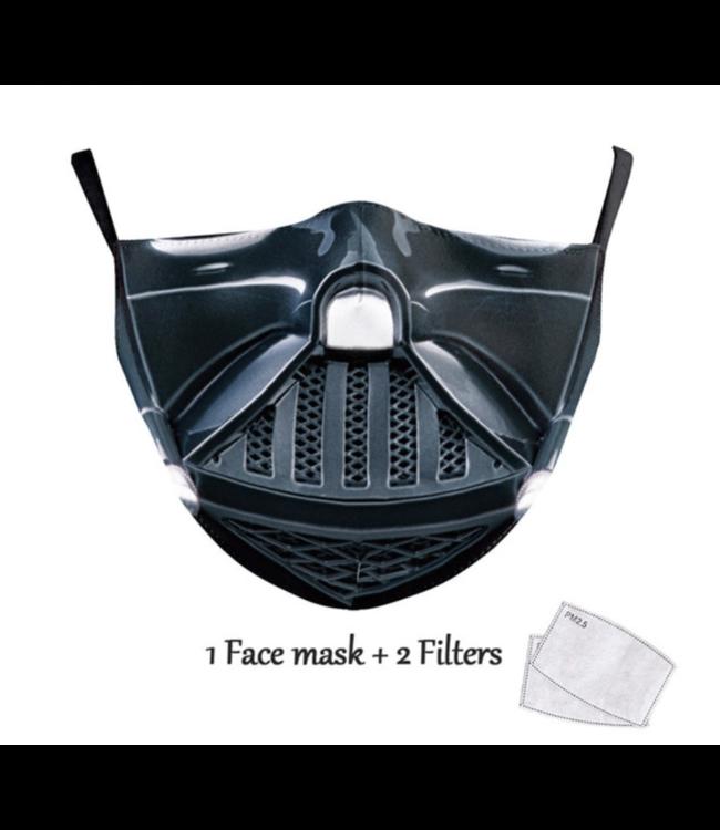 DG Masque facial adulte unisexe - Masque lavable et réutilisable - Vader