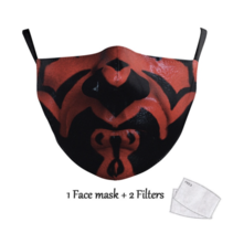 Adult unisex  Face Mask - Alien Time  - Darth maul