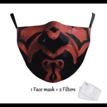 Masque facial adulte unisexe - Masque lavable et réutilisable - Darth maul
