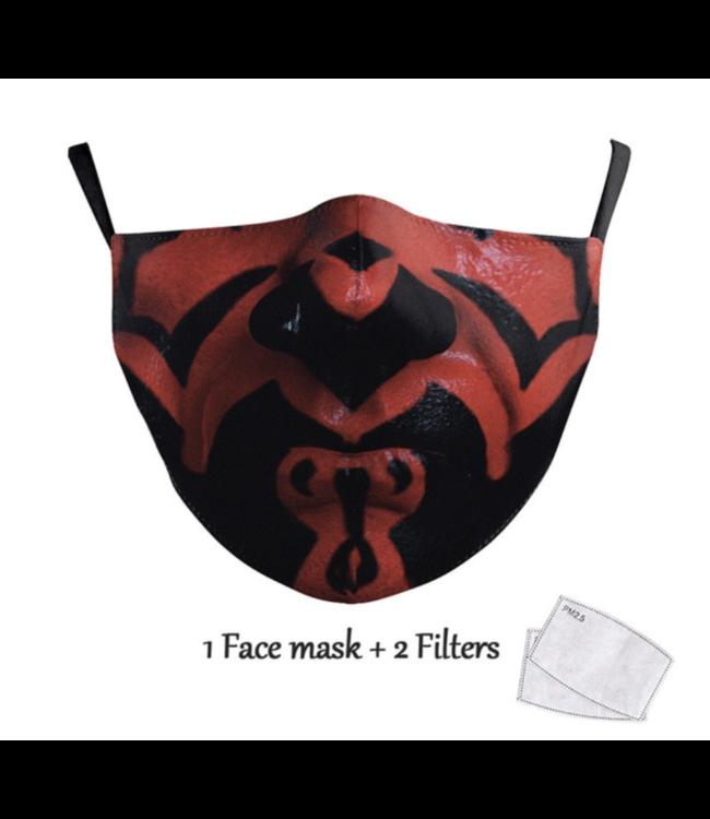 DG Unisex-Gesichtsmaske für Erwachsene - Darth maul