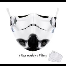 Masque facial adulte unisexe - Masque lavable et réutilisable - Trooper
