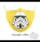 DG Masque facial adulte unisexe - Masque lavable et réutilisable - Trooper yellow