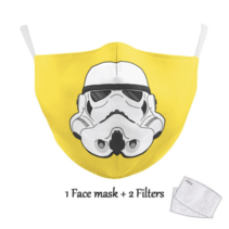 Adult unisex  Face Mask - Trooper yellow
