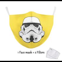 Masque facial adulte unisexe - Masque lavable et réutilisable - Trooper yellow