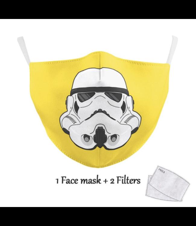 DG Adult unisex  Face Mask - Trooper yellow