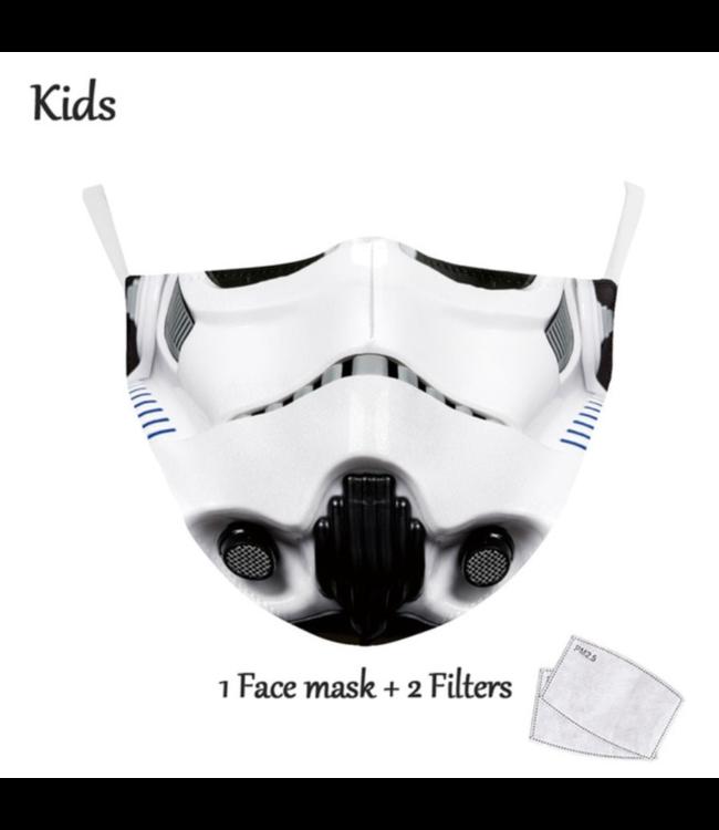 DG Enfants Face Mask - Masque lavable et réutilisable - Trooper