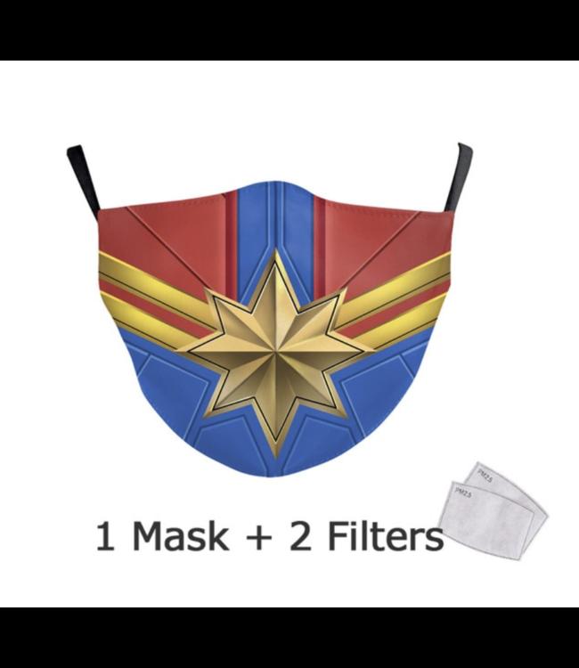 DG Gesichtsmaske für Kinder - Waschbare, wiederverwendbare Maske - Wonder Women