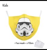 DG Gesichtsmaske für Kinder - Waschbare, wiederverwendbare Maske - Yellow Trooper