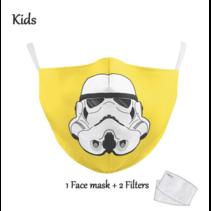Gesichtsmaske für KINDER - Yellow Trooper