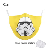 KIDS Face Mask  - Yellow Trooper