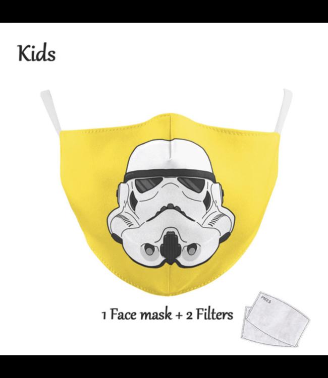 DG Enfants Face Mask - Masque lavable et réutilisable - Yellow Trooper
