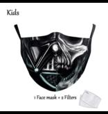 DG Kids Face Mask - Washable Reusable Mask - Vader Skull