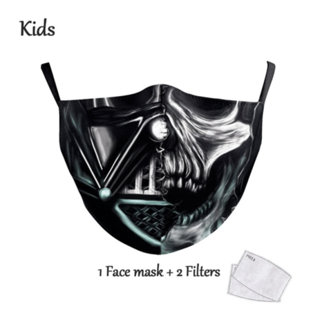 DG Gesichtsmaske für Kinder - Waschbare, wiederverwendbare Maske - Vader Skull