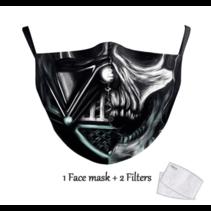 Masque facial adulte unisexe - Masque lavable et réutilisable - Vader Skull