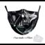 DG Masque facial adulte unisexe - Masque lavable et réutilisable - Vader Skull