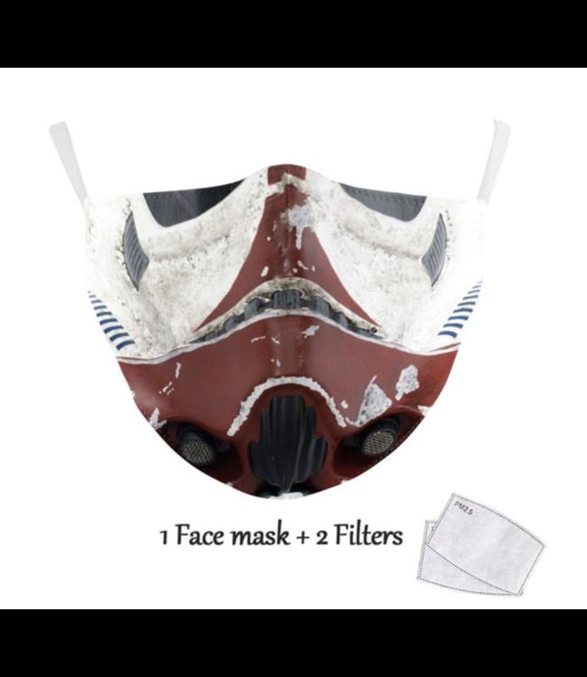 DG Unisex-Gesichtsmaske für Erwachsene - S Trooper