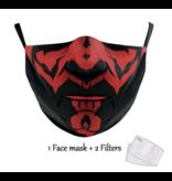 DG Masque facial adulte unisexe - Masque lavable et réutilisable - S Darth