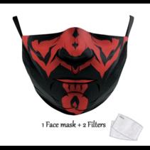 Masque facial adulte unisexe - Masque lavable et réutilisable - S Darth