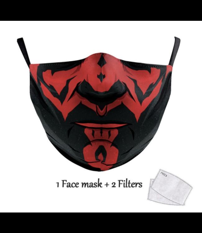 DG Unisex-Gesichtsmaske für Erwachsene - S Darth