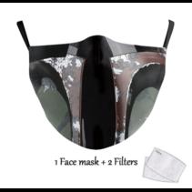 Masque facial adulte unisexe - Masque lavable et réutilisable - Jango Fett