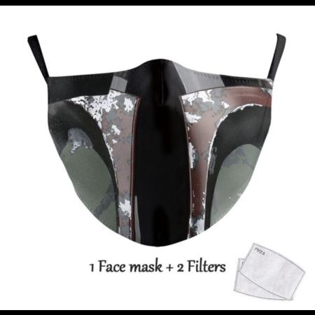 DG Masque facial adulte unisexe - Masque lavable et réutilisable - Jango Fett