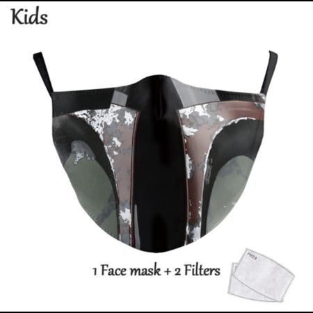 DG Kids Face Mask - Washable Reusable Mask - Jango Fett