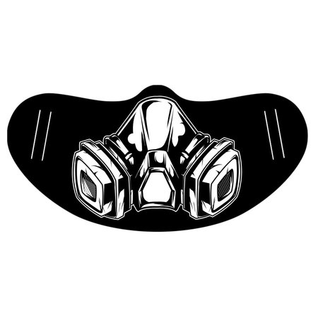 DG GAS MASK PRINTED FACE MASK
