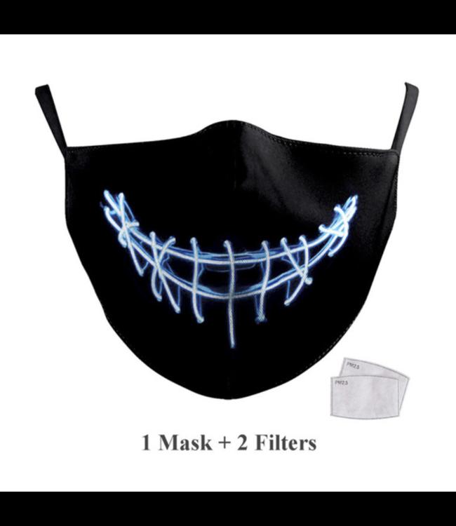 DG Masque facial adulte unisexe - Masque lavable et réutilisable - Electro Smyle