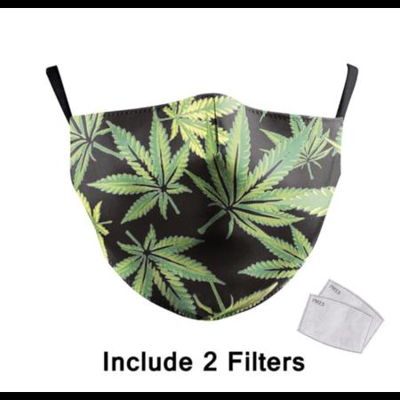DG Unisex-Gesichtsmaske für Erwachsene - Amsterdam cannabis