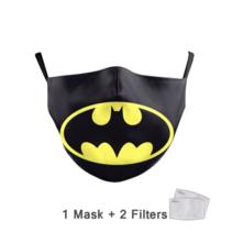 Masque facial adulte unisexe - Masque lavable et réutilisable - Batman