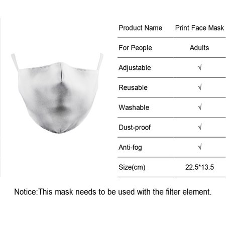 DG Masque facial adulte unisexe - Masque lavable et réutilisable - Dinos