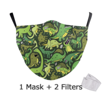 Adult unisex  Face Mask - Dinos