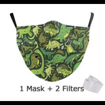 Masque facial adulte unisexe - Masque lavable et réutilisable - Dinos