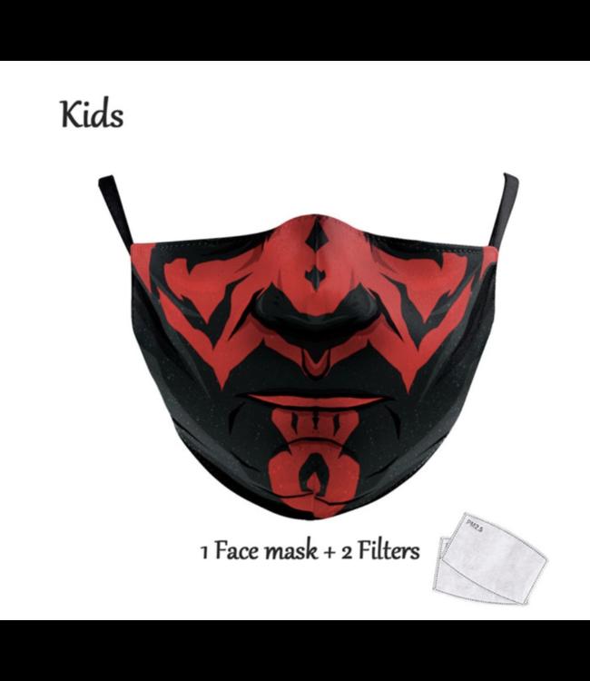 DG Gesichtsmaske für Kinder - Waschbare, wiederverwendbare Maske - S Darth