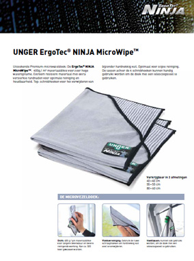 Unger Ninja Microwipe Brochure