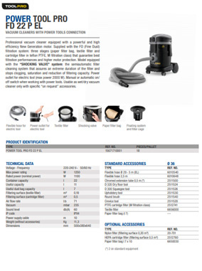 Brochure Power Tool Pro FD 22 P EL
