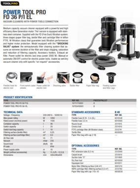 Brochure Power Tool Pro FD 36 P EL