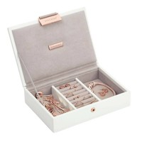 Mini 2-Set Juwelen Sieraden Doos | White & Stone + Rose Gold
