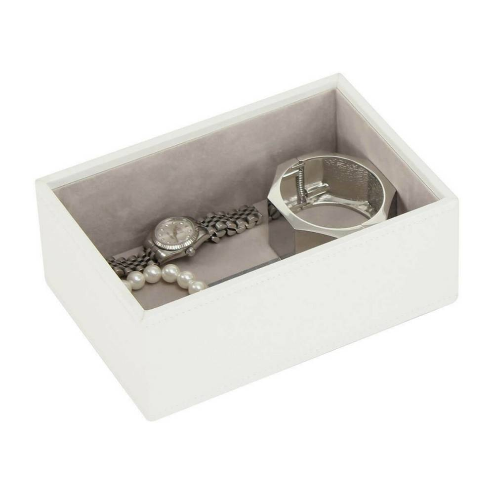 Mini 2-Set Schmuckkasten | White & Stone + Rose Gold-4