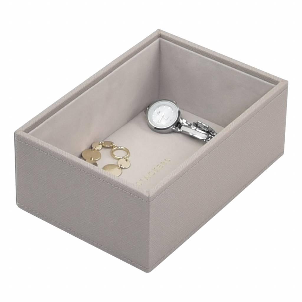 Mini 2-Set Boîte à Bijoux - Taupe & Grey Velvet-4