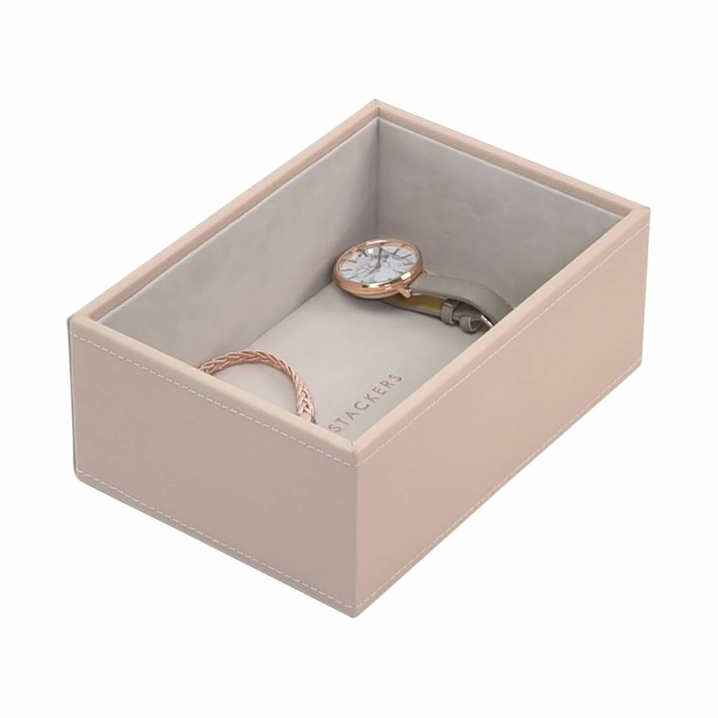 Mini 2-Set Boîte à Bijoux - Blush & Grey Velvet-4