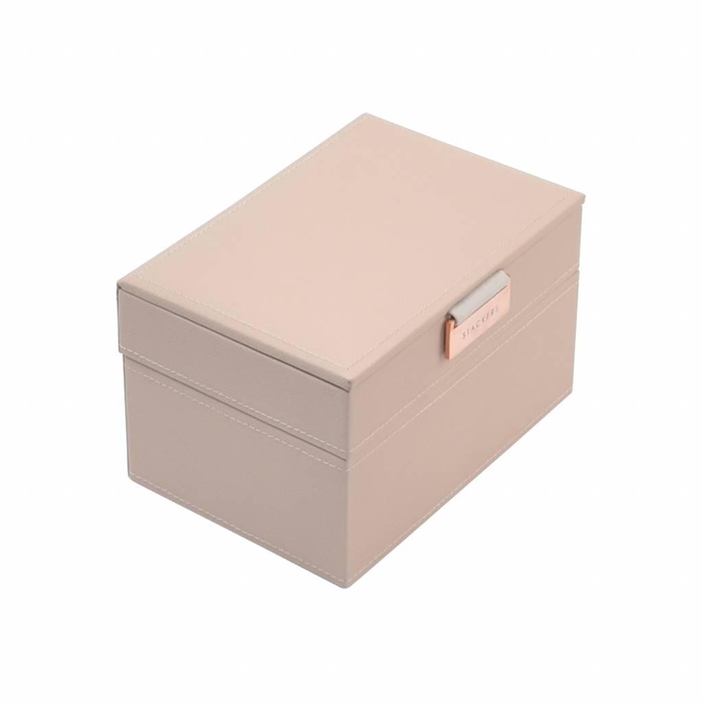 Mini 2-Set Boîte à Bijoux - Blush & Grey Velvet-1