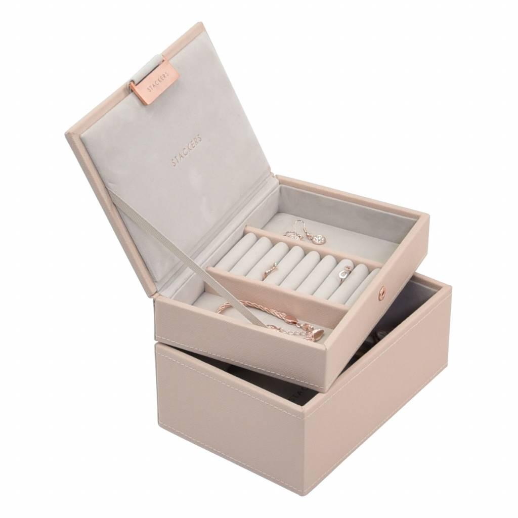 Mini 2-Set Boîte à Bijoux - Blush & Grey Velvet-2