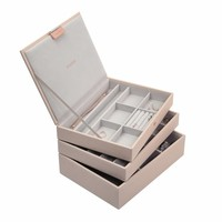 Classic 3-Set Juwelen Sieraden Doos | Blush & Grey