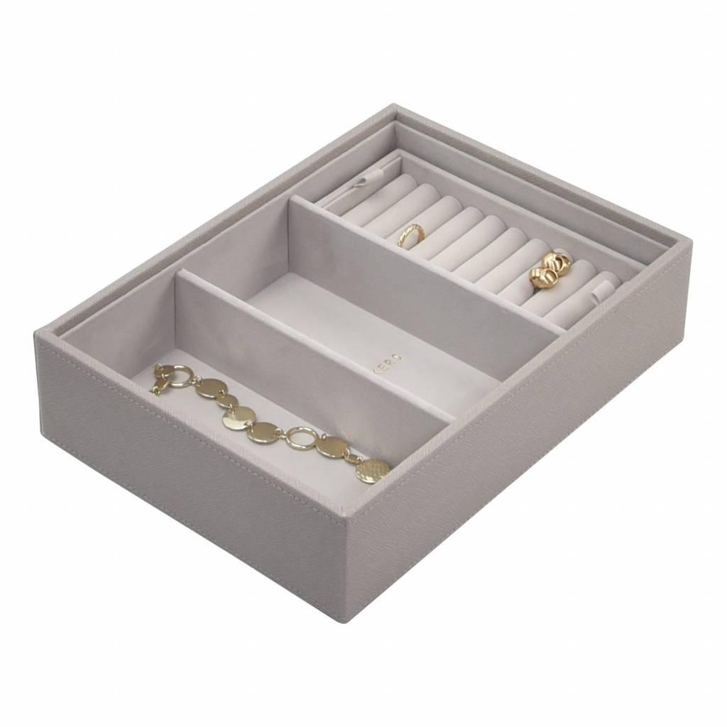 Ring Box Grey Velvet-2
