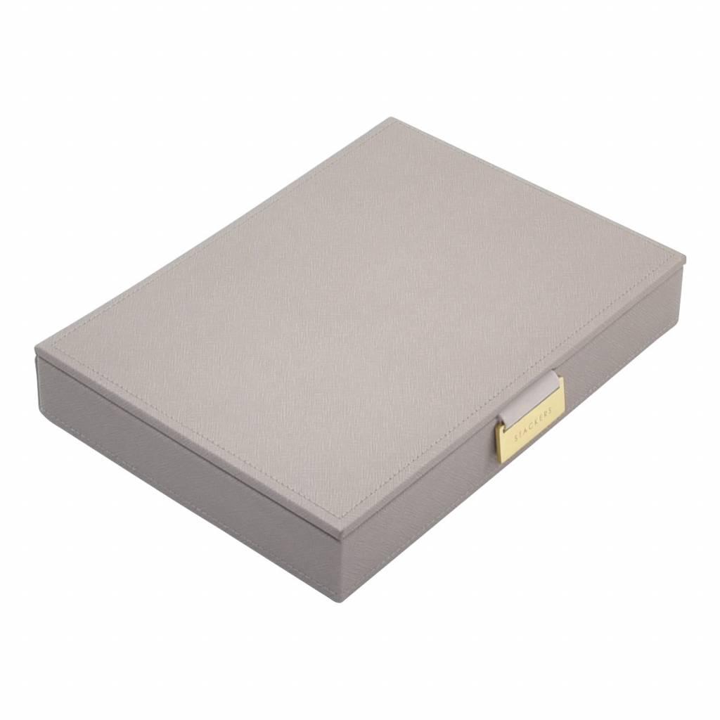 Classic Top Box Taupe & Grey Velvet-1