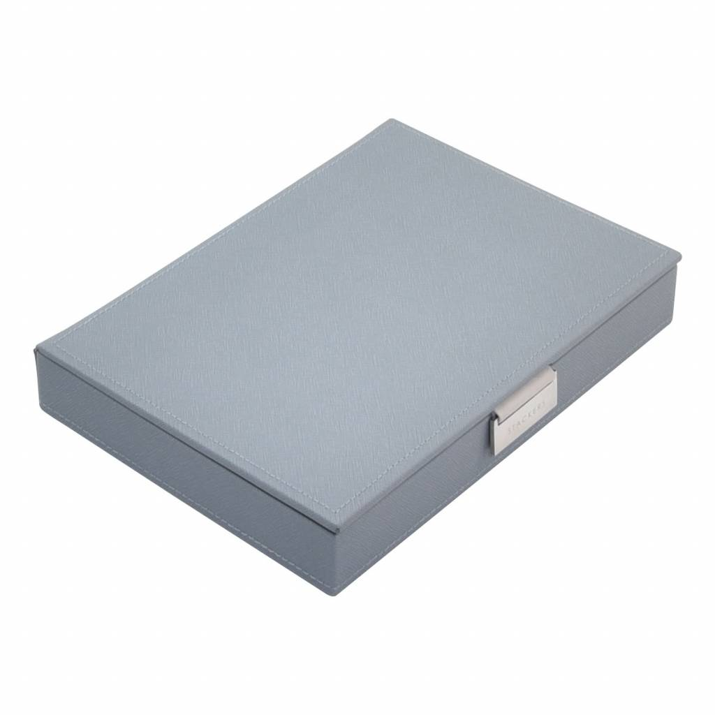 Classic Top Box Dusky Blue & Grey Velvet-1