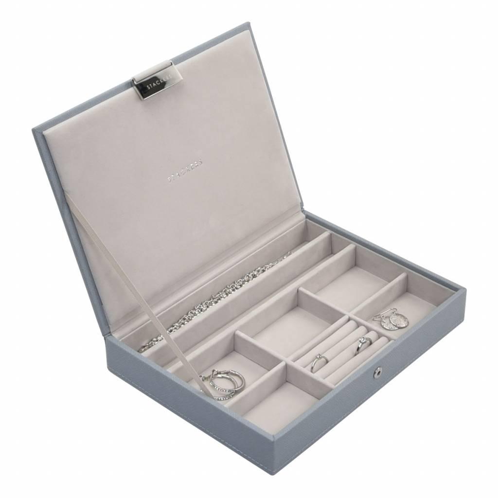 Classic Top Box Dusky Blue & Grey Velvet-2