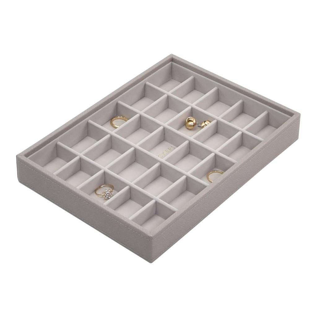 Classic 25-Section Box Taupe & Grey Velvet-1