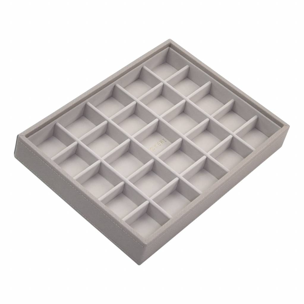 Classic 25-Section Box Taupe & Grey Velvet-2